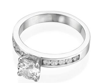 1.50 CT Classic Natural Diamond, Halo Engagement Ring, Diamond Engagement Ring, Cushion Halo Engagement Ring, Unique Diamond Engagement Ring