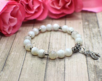 Lung Cancer Awareness - Lung Cancer Jewelry - Lung Cancer Awareness Bracelet - Lung Cancer - Lung Cancer Survivor Gift - Lung Cancer Gift
