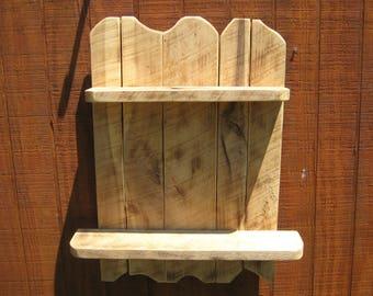 Rustic Reclaimed Primitive Wood Shelf Knotty Rough