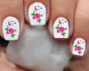 1325 Flowers Waterslide Nail Art Decals Enough For 2 Manicures
