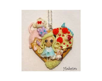 Necklace Alice in Wonderland - Unique Creation