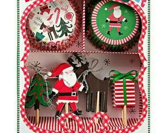 Christmas Party Decorations. Christmas Cupcake Toppers. Meri Meri. Christmas Decorations. Christmas Party. Cupcakes