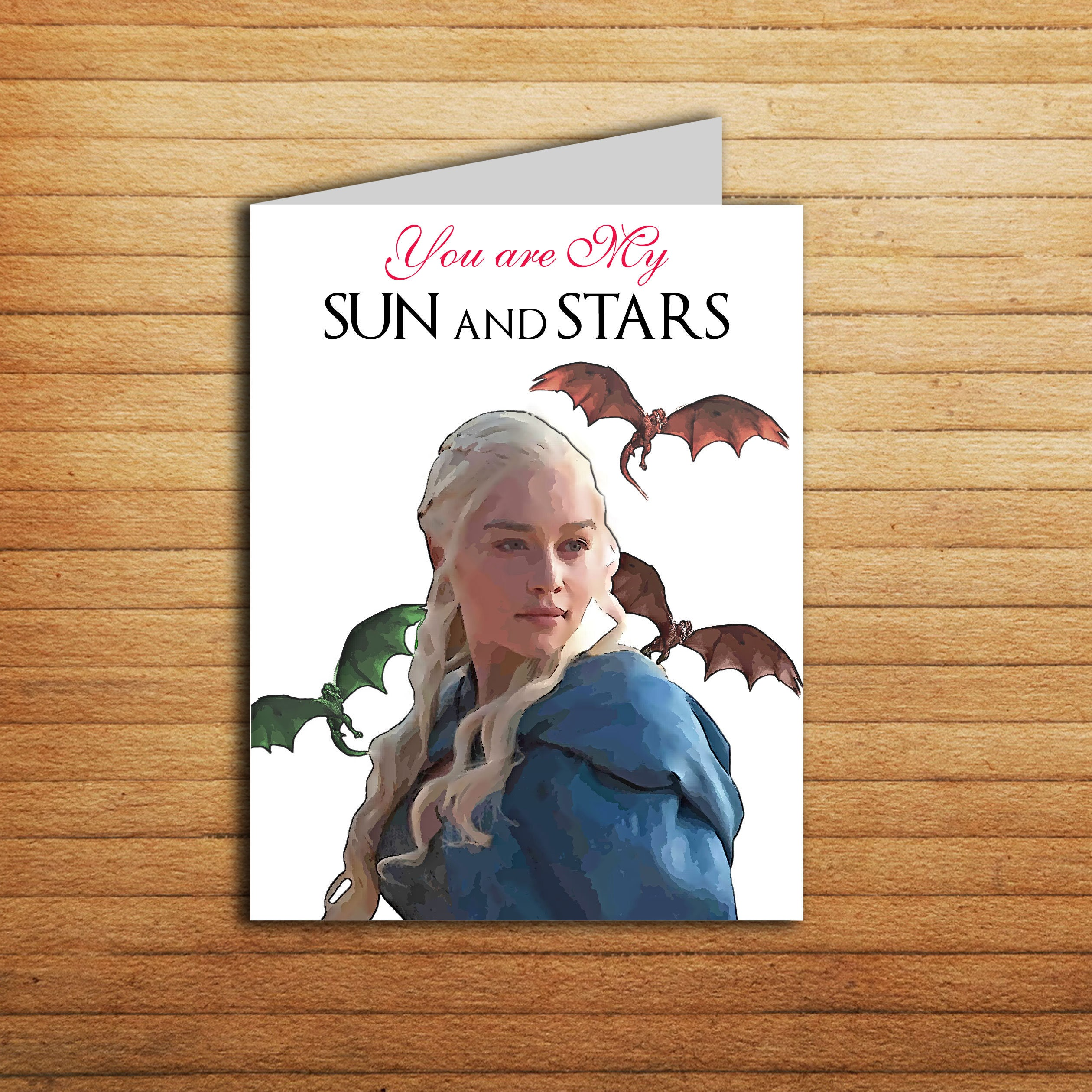 Game of Thrones Valenties day Card Sun and Stars Printable