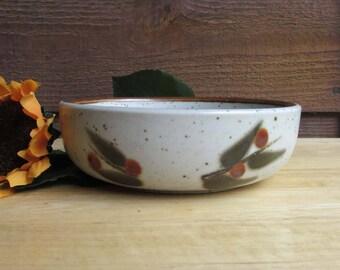 Vintage Stoneware Bowl | Earth Tones Serving Dish | Sauce Bowl | Housewarming Gift