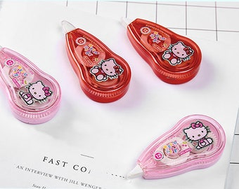 Hello Kitty Correction Tape, Applicator, Cute School Supplies