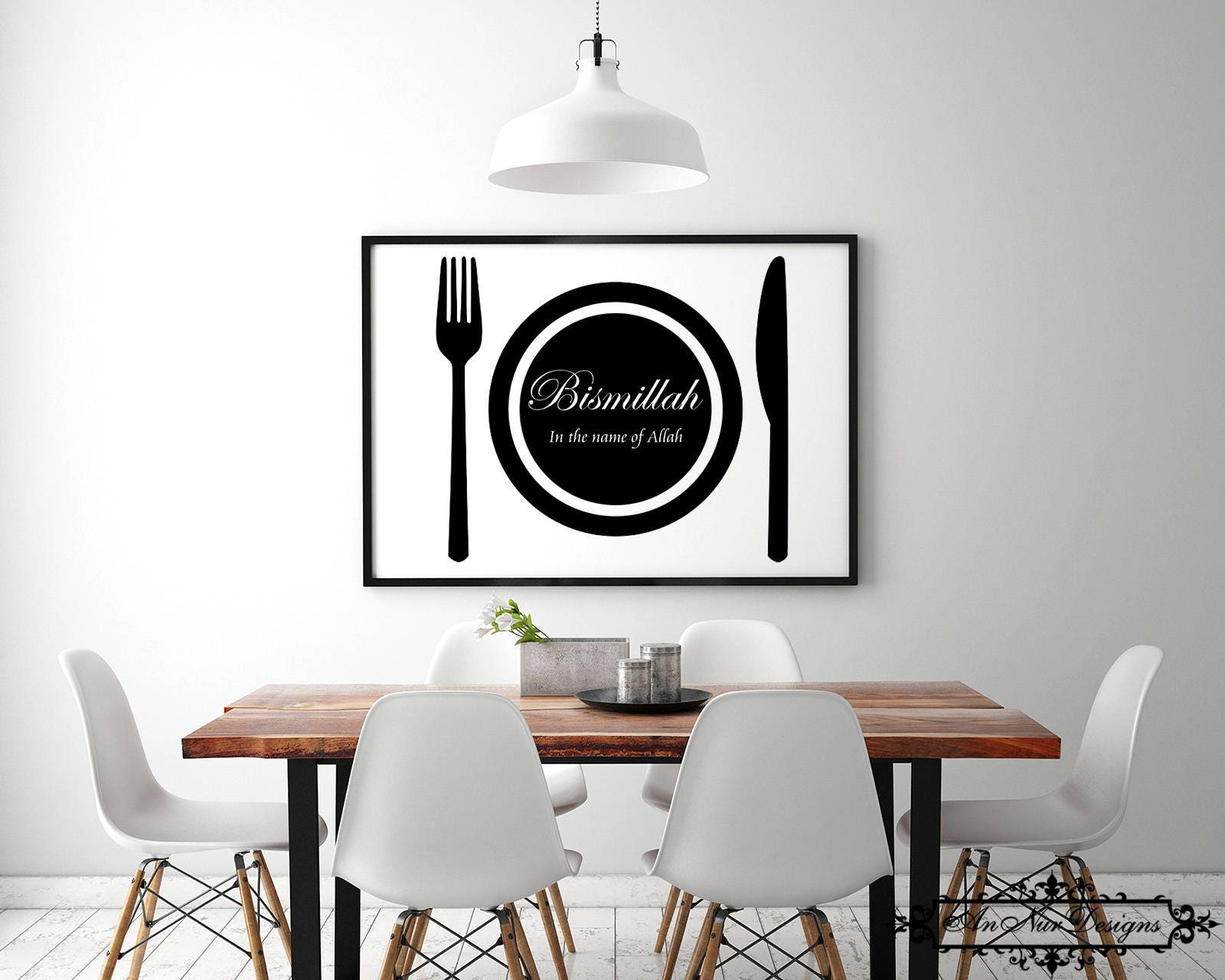 Islamic wall art for dining room arabic calligraphy for Best wall decor for dining room