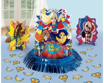Dc superhero girls table centerpiece