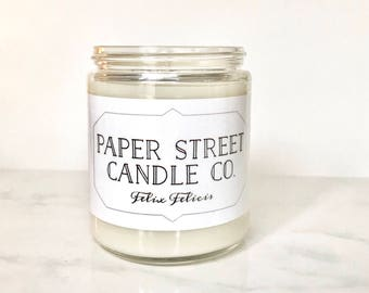 Liquid Luck Candle | soy wax candles | book | literary candles | book gifts | book candles | honey citrus candle