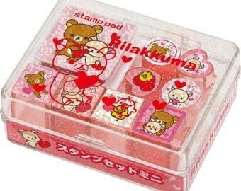 San-x Rilakkuma Rubber Stamp set - 30201