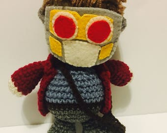 FREE SHIPPING!!!  9 inch Starlord Guardians of the Galaxy Amigurumi
