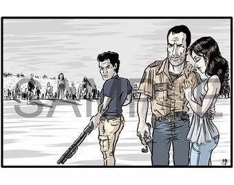 The Walking Dead print