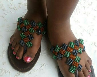 summer sandals, maasai sandals, african sandals, leather sandals women, gift for women
