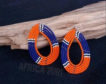 everyday earrings, maasai jewelry, bead earrings, beadwork earrings, bestfriend gift