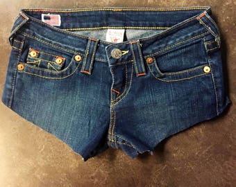 True Religion Denim Shorts size 26