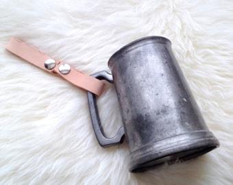 Leather Snap Tankard Holder