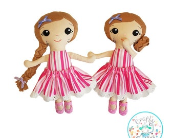 Cute Doll Sewing Pattern, Rag Doll Pattern, PDF Sewing Pattern, Baby Sewing Patterns, Sew A Doll, Cloth Doll, Easy Patterns, Doll Stuffie