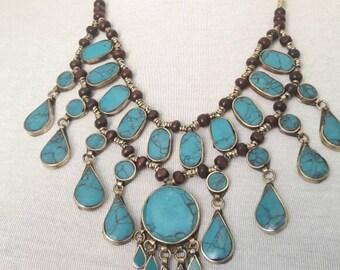 TURKMEN turquoise necklace