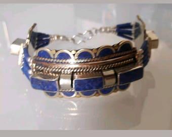 Bracelet Tibetan lapis lazuli n2