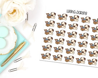 Toy Box Pug Planner Stickers