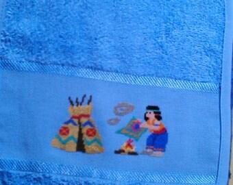 Hand embroidered bib