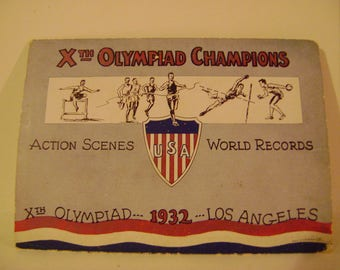 Vintage 1932 Olympic Games Foldout Mail Away