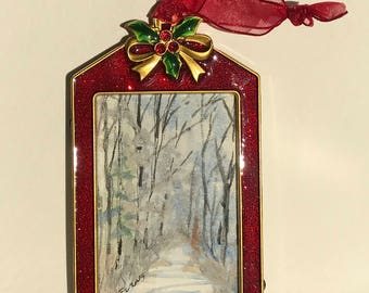 Maine Woods Stroll - Christmas Ornaments