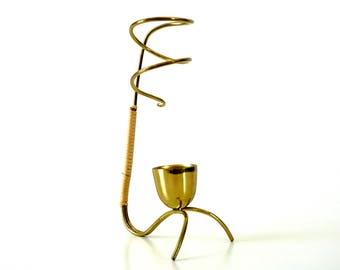 Mid Century Candle Holder - Vintage Brass - Metal Candle Holder - Brass Candlesticks - Brass Candle Holder