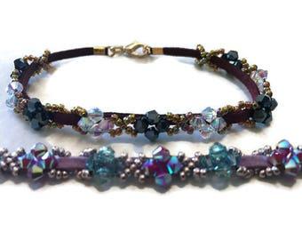 Crystal and Suede Bracelet Kit - (Limited)