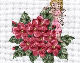 Counted Cross Stitch Kit Pink Angel D-0350