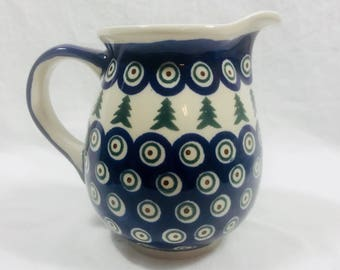 "Vintage 5"" Boleslawiec Polish Pottery Pitcher"