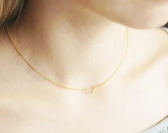 Tiny Boho Gold Choker, Dainty Gold Choker, Minimalist Gold Choker, Geometric Choker Necklace, Gold Choker Necklace, Tiny Choker Necklace