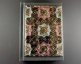 Polymer clay journal Handmade journal Unique journal Middle eastern style Lace ornaments Handmade notebook Art journal Sketchbook Notebook