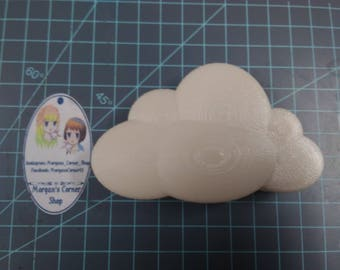 Puffy Cloud Plastic Mold or Silicone Mold, cloud Mold, resin mold, bath bomb mold, soap mold, 3D cloud mold, candy mold, rain cloud, puffy