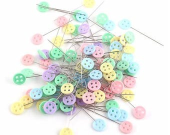 Box of 100 buttons - stainless steel pins