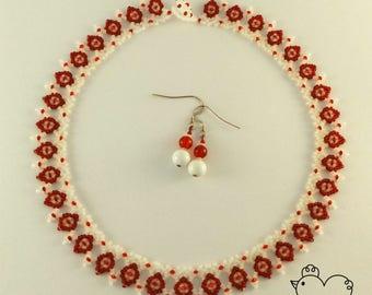 Ukrainian Style Beaded Necklace + FREE earrings