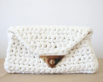 Foldover clutch Pattern, Crochet Bag Pattern, Small Bag Pattern, Crochet Purse Pattern, Foldover Handbag, Foldover Bag, Tshirt Yarn Purse