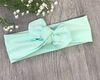 Mint Green Headband / Baby Headband / Newborn Headband / Baby Headbands / Toddler Headband / Infant Headband / Baby Headwrap / Baby Bows /