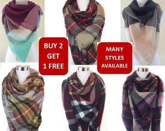 Blanket Scarf, Plaid blanket scarf, Tartan plaid scarf, Zara blanket scarf, Tartan scarf, Oversized scarf, Oversized plaid scarf,