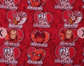 Marvel Red Hearts Valentines Day Fabric, Hulk Fabric, Comics Fabric,  Valentineu0027s Day,