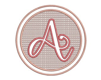 SALE 50% A-Z Embossed Embroidery Fonts, Olivia Font ,Embroidery Designs, Machine Embroidery - 8 File Fomats Pes font