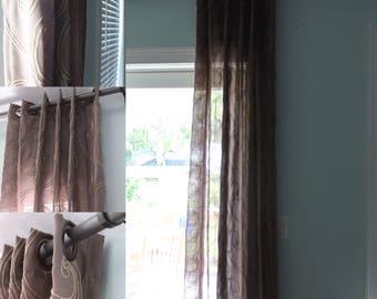 2 custom curtain panels ready to ship.