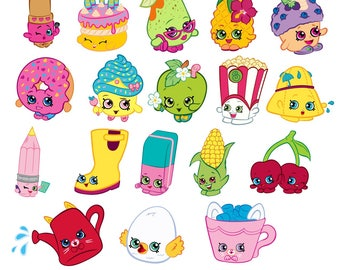 Shopkins svg, cheeky cherry svg, svg shopkins, apple blossom svg, cupcake queen svg, lippy lips svg,wishes svg,posh pear svg,pineapple crush