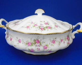 Paragon Victoriana Rose covered vegetable bowl with lid art deco