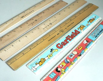 12 To 15 Inch Rulers Wood Plastic