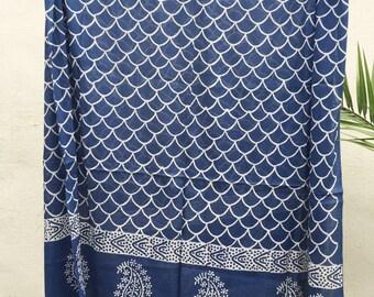 Indigo Sarong - Indian sarong, boho beach sarong, beach cover up,