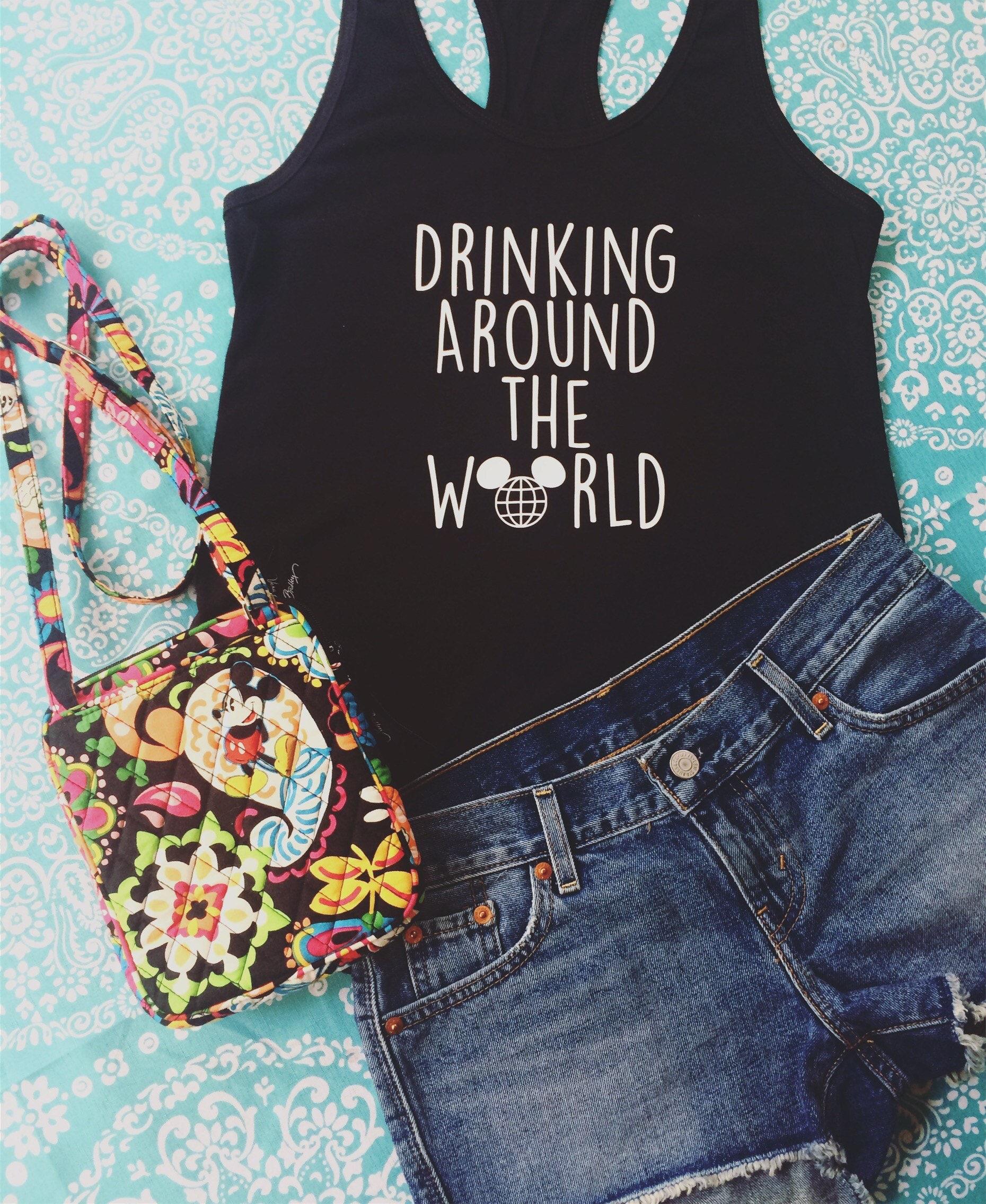 Disney Epcot Drinking Around The World Shirt Epcot Shirt