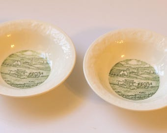 Vintage Fruit Dessert Bowl - Pastoral by Taylor, Smith & Taylor  1940's