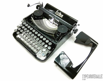 The real BLACK DIAMOND!!! ERIKA 9 1953, Erika typewriter, vintage typewriter, working typewriter, manual typewriter, black typewriter
