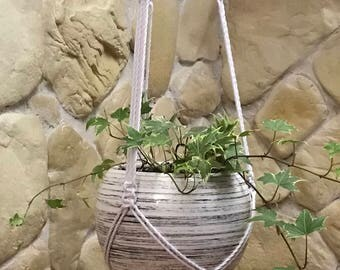 Planter hanger from Cotton; Pot hanger; Plant holder; Hanging plant holder; Plant hanger Macrame Pot Hanger