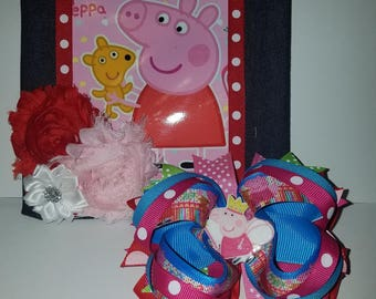 Peppa Pig Hairbow & Purse Combo